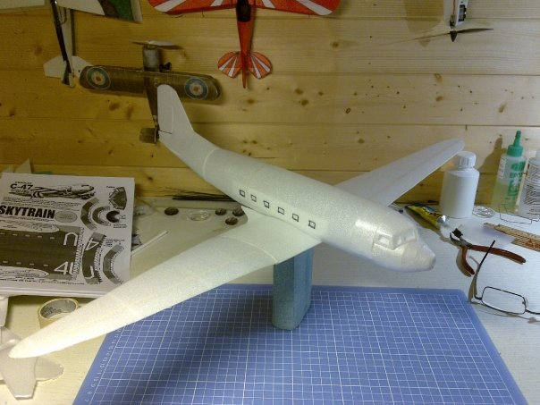 Wing is completed and test fitted to the fuselage.