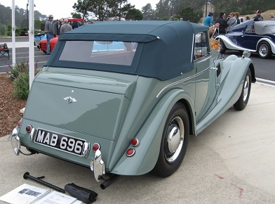 Four seater drophead coupe rear end.